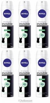 Nivea Deodorant Black White Active Spray 6x200 ml - Hellowcost