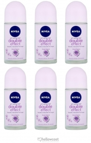 Nivea Deodorant Bille Black White Woman 6X50 ml - Hellowcost