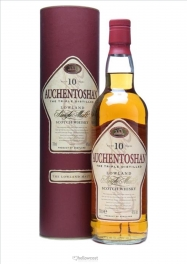 Auchentoshan 10 Years 43% 100 cl Whisky Ancien Bouteille Free Glass - Hellowcost