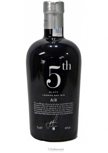 5th Air Black Gin 40% 70 cl