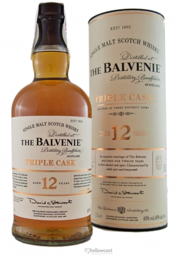 The Balvenie 12 Ans Triple Cask Whisky 40% 1 Litre