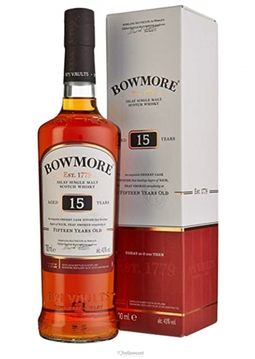 Bowmore 15 Ans Darkest Sherry Cask 43% 70 Cl