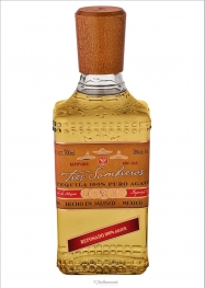 Tres Sombreros Reposado 100% Puro Agave Tequila 38% 70 cl - Hellowcost