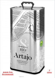 Artajo Huile D'olive Vierge Extra BIO Arbequina Extraction À Froid 5 Litres - Hellowcost