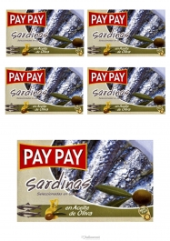 Pay Pay Sardines A L'huile D'olive 120gr Lot De 5 - Hellowcost