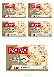 Pay Pay Palourdes Au Naturel Poids Net 115gr Lot De 5 - Hellowcost