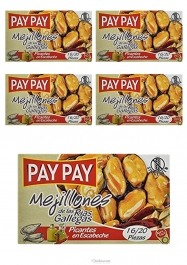 Pay Pay Moules En Sauce Piquante Poids Net 5X115gr - Hellowcost