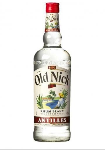 Old Nick Rhum Blanc 40º 1 Litre